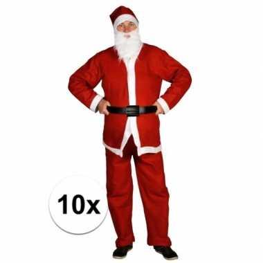 10x voordelige santa run kerstman foute kleding voor volwassenen