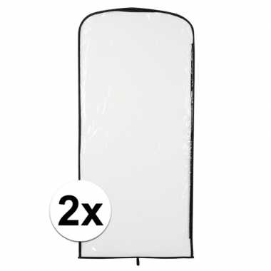 2x foute kleding opberghoes transparant 95 x 42 cm