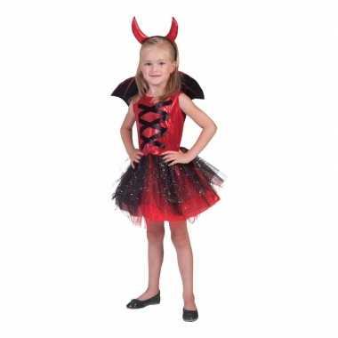 3 delige foute kleding jurkje duivel
