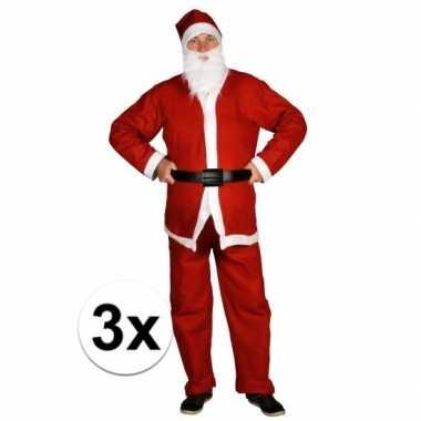 3x voordelige santa run kerstman foute kleding voor volwassenen