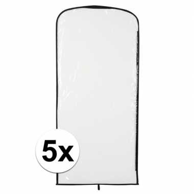 5x foute kleding opberghoes transparant 95 x 42 cm