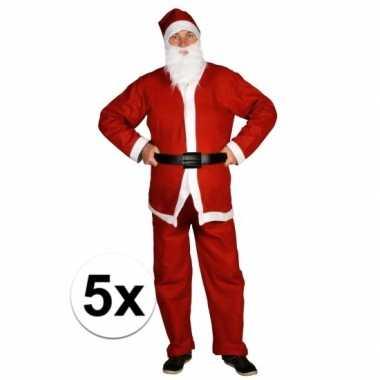 5x voordelige santa run kerstman foute kleding voor volwassenen