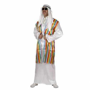 Arabisch foute kleding met regenboog vest voor volwassenen