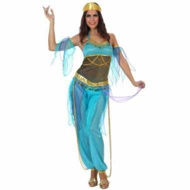 Arabische danseres foute kleding blauw