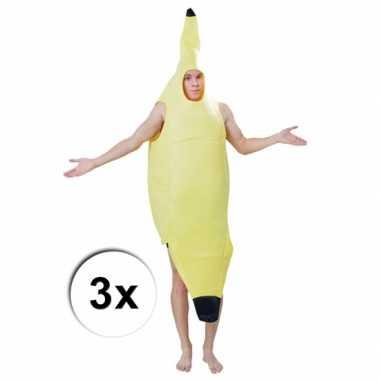 Bananen foute kleding 3 x voor volwassenen
