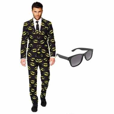 Batman heren foute kleding maat 54 xxl met gratis zonnebril
