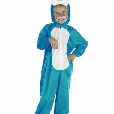 Blauw konijnen foute kleding voor kinderen