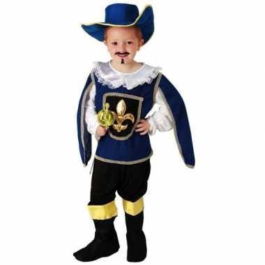 Blauw musketiers foute kleding voor jongens