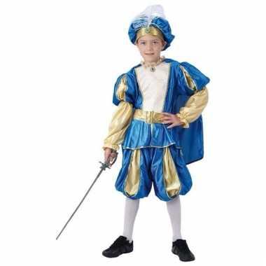 Blauw prinsen foute kleding voor jongens