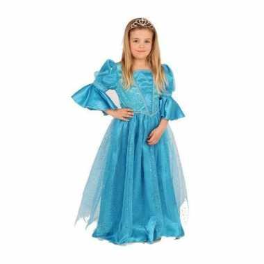 Blauwe prinses foute kleding voor meisjes
