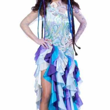 Blauwe prinses van de zee foute kleding