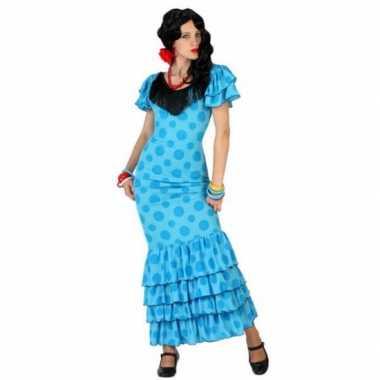 Blauwe spaanse foute kleding jurk