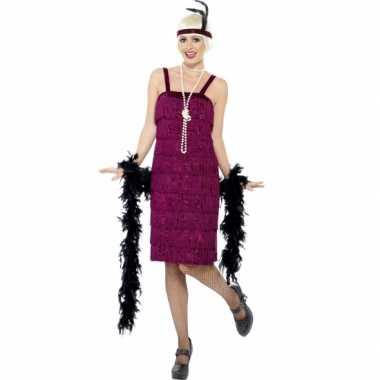 Bordeaux rood flapper jurkje foute kleding voor dames