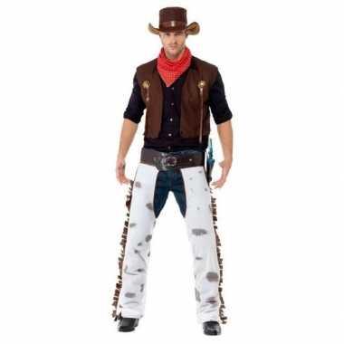 Bruin cowboy foute kleding voor heren