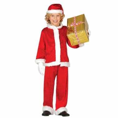 Budget pluche kerstman foute kleding voor kinderen 3 delig