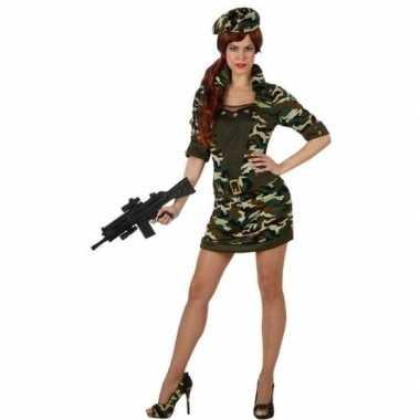 Camouflage soldaat foute kleding/jurk voor dames
