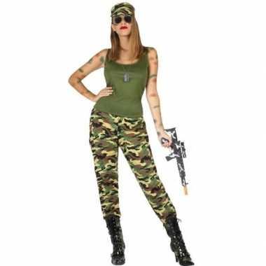 Camouflage soldaat pak/foute kleding voor dames