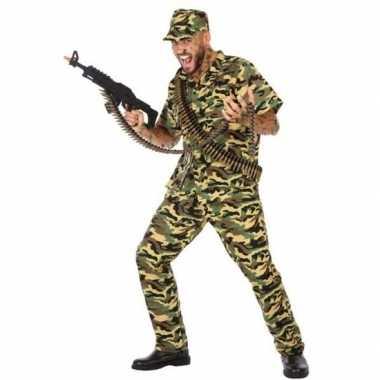 Camouflage soldaat pak/foute kleding voor heren