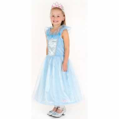 Carnaval foute kleding prinses blauw meisjes