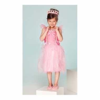 Carnaval foute kleding prinses fuchsia meisjes