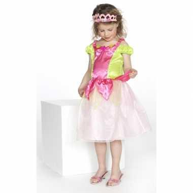 Carnaval foute kleding prinses roze/groen meisjes