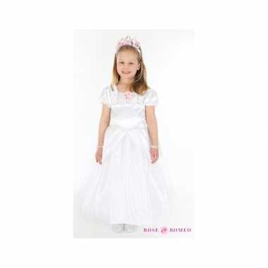 Carnaval foute kleding prinses wit meisjes