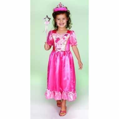 Carnaval foute kleding prinsessenjurk roze