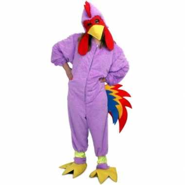 Carnavals foute kleding paarse kip