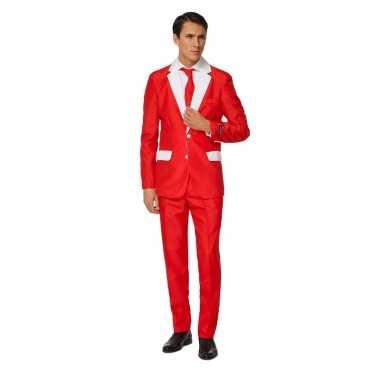 Carnavals heren pak kerstman foute kleding print
