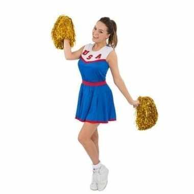 Cheerleaders foute kleding met pom poms voor dames