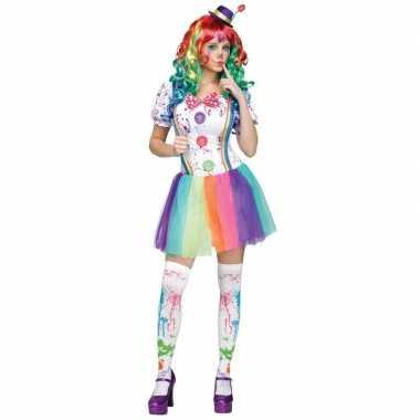 Compleet clowns foute kleding paint voor dames