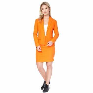 Compleet oranje dames foute kleding