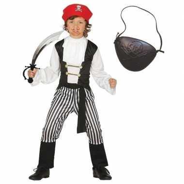 Compleet piraten foute kleding maat 128 134 voor kinderen