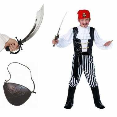 Compleet piraten foute kleding maat m voor kids