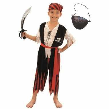 Compleet piraten foute kleding maat m voor kinderen