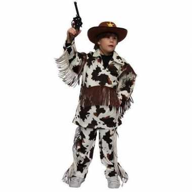 Cowboy foute kleding met koeienprint voor kinderen