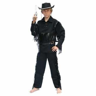 Cowboy foute kleding zwart voor kinderen