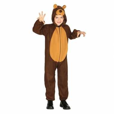 Dierenpak foute kleding beer voor kinderen
