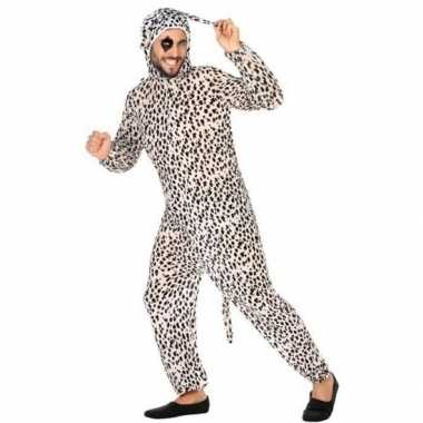 Dierenpak foute kleding dalmatier hond voor volwassenen