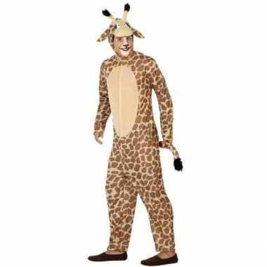 Dierenpak foute kleding giraffe voor volwassenen