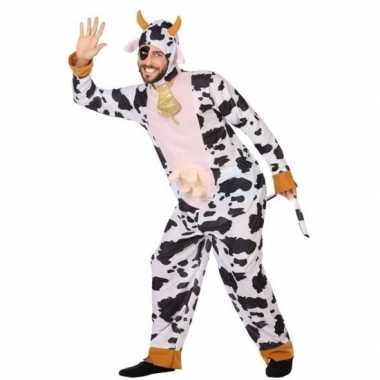 Dierenpak foute kleding koe voor volwassenen