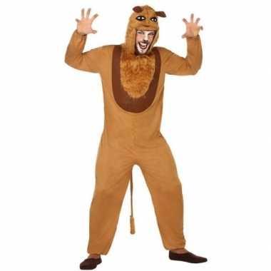 Dierenpak foute kleding leeuw voor volwassenen