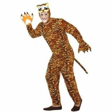 Dierenpak foute kleding tijger voor volwassenen