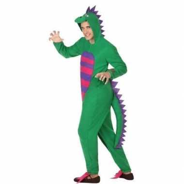 Dierenpak groene draak foute kleding voor heren