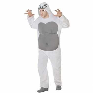 Dierenpak yeti foute kleding voor volwassenen