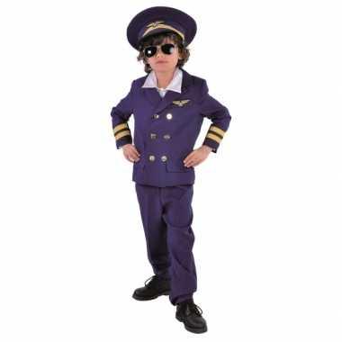 Donkerblauw piloten foute kleding voor kids