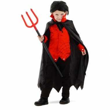 Dracula vampier foute kleding met cape voor kinderen