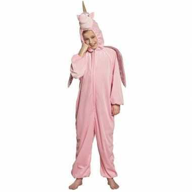 Eenhoorn dieren onesie/foute kleding voor kinderen roze