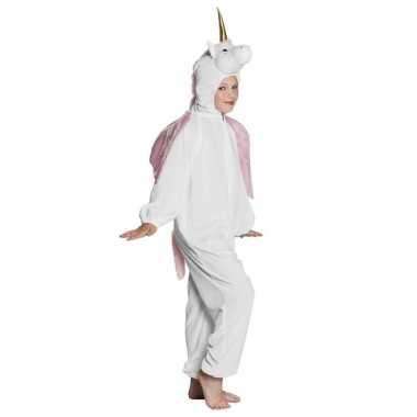 Eenhoorn dieren onesie/foute kleding voor kinderen wit