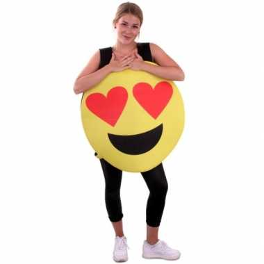Emoticon foute kleding hartjes ogen voor volwassenen
